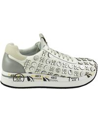 And 3622 Leather White Fabric Conny Trainers 8nw0OvmN