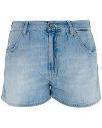 Dondup Faded Denim Shorts - Blue