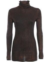 Avant Toi - Bronze Effect Cashmere Turtleneck Sweater - Lyst