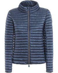 Save The Duck Denim Blue Iris Nylon Puffer Jacket