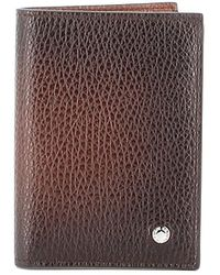 Orciani Micron Deep Gradient Leather Wallet - Brown