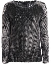 Avant Toi Shaded Cotton Destroyed Sweater - Brown