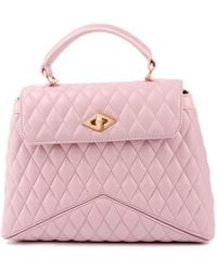 Ballantyne Diamond Quilted Leather Bag - Pink