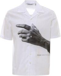 Neil Barrett Camicia con stampa mano - Bianco
