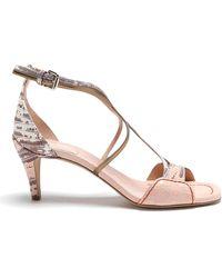 Chloé Carla Pink Heeled Sandals