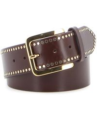 Ermanno Scervino Embellished Leather Belt - Brown