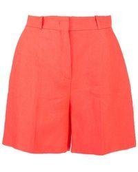 Loro Piana Emil Bermuda Trousers In Sunrise Pink