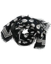 Alexander McQueen Sciarpa Skull Biker - Nero