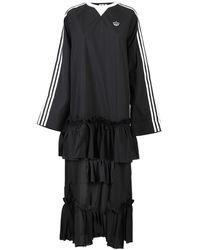 adidas Originals Dress With Sweater And Flounced Skirt - Black