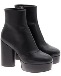 Marc Jacobs Leather Ankle Boots - Black