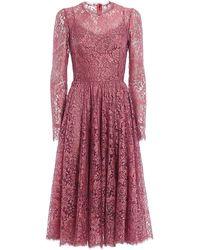 Dolce & Gabbana Lace Dress - Pink