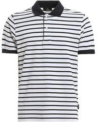 Fay - Striped Piquet Polo - Lyst