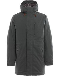 Save The Duck Rainy Eco Fur Lined Padded Coat - Grey