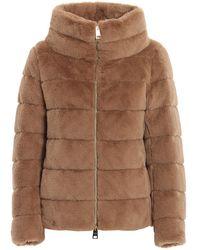 Herno Faux Fur Padded Jacket - Brown