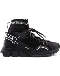 Dolce & Gabbana - Sorrento Trekking Black Jersey Slip-ons - Lyst