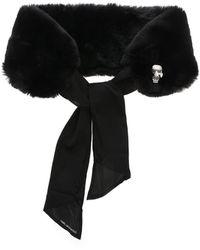 Karl Lagerfeld Sciarpa KIkonik nera - Nero