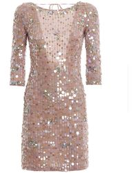 Blumarine - Backless All Over Sequined Dress - Lyst