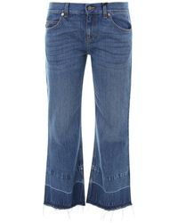 Gucci Donald Duck Cropped Jeans - Blue