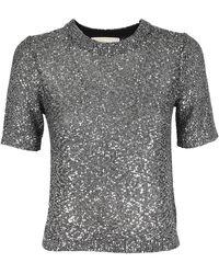 Michael Kors - T-shirt effetto metallizzato - Lyst
