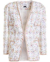 Edward Achour Paris Colourful Pattern Blazer - White