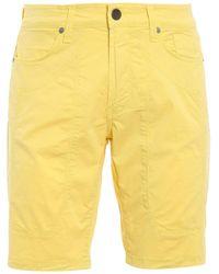 Jeckerson Cotton Bermuda Shorts - Yellow