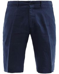 Corneliani Dark Blue Silk Shorts