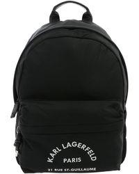Karl Lagerfeld Rue St Guillaume Backpack In Black