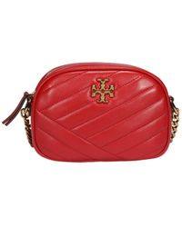 Tory Burch Kira Chevron Small Camera Bag - Red