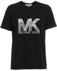 Michael Kors Sequined Logo T-shirt - Black