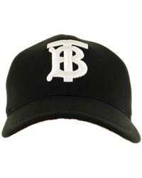 Burberry Jersey And Check Baseball Cap - Black