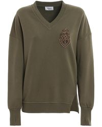 Dondup Bejewelled Oversized Sweatshirt - Green