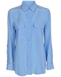Equipment Camicia azzurra con tasche sul petto - Blu