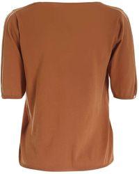 Ballantyne T-shirt in maglia color cuoio - Marrone