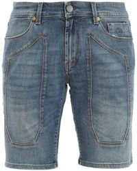 Jeckerson Denim Bermuda Shorts - Blue
