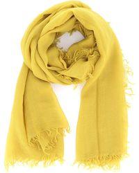 Aspesi Cashmere Gauze Scarf - Yellow