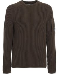 C.P. Company - Ribbed Crewneck Sweater - Lyst