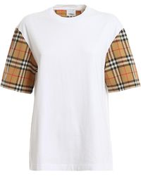 Burberry T-shirt in cotone - Bianco