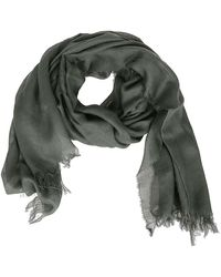 Fay Viscose And Cashmere Scarf - Green