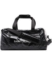 Saint Laurent Nuxx Logo Lettering Black Duffle Bag