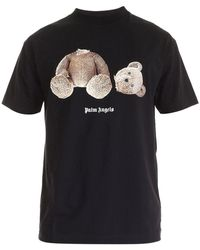 Palm Angels T-shirt Ice Bear in cotone - Nero