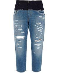 Dolce & Gabbana Jeans larghi strappati - Blu
