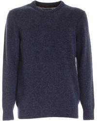 Barbour Pullover Tisbury speckle blu