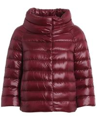 Herno Synthetic Sofia Down Crop Puffer Jacket in Silver ...