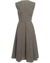 Woolrich Check Print Sleeveless Dress - Blue
