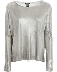 Avant Toi Laminated Jersey Oversized T-shirt - Gray