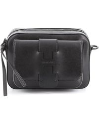 Hogan Smooth Leather Camera Bag - Black