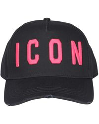 DSquared² Icon Pink Baseball Cap - Black