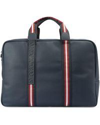 Emporio Armani Blue Faux Leather Travel Bag