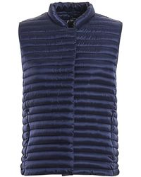 Save The Duck Quilted Fabric Gilet - Blue