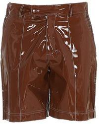Gcds Vinyl Shorts - Brown